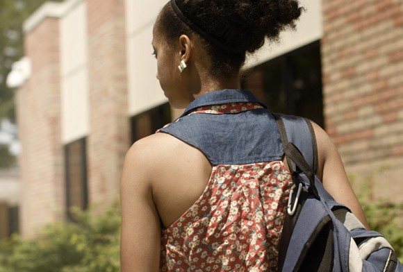 Student Carrying Backpack