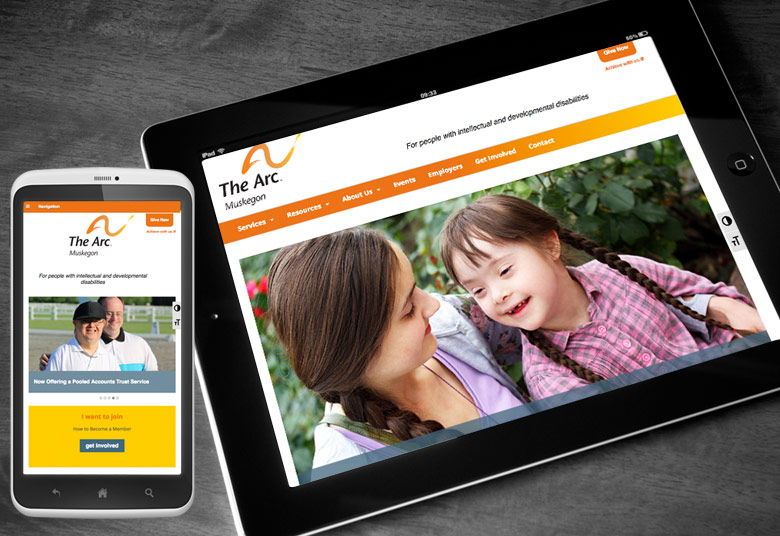 ARC Website for Tablet and Mobile