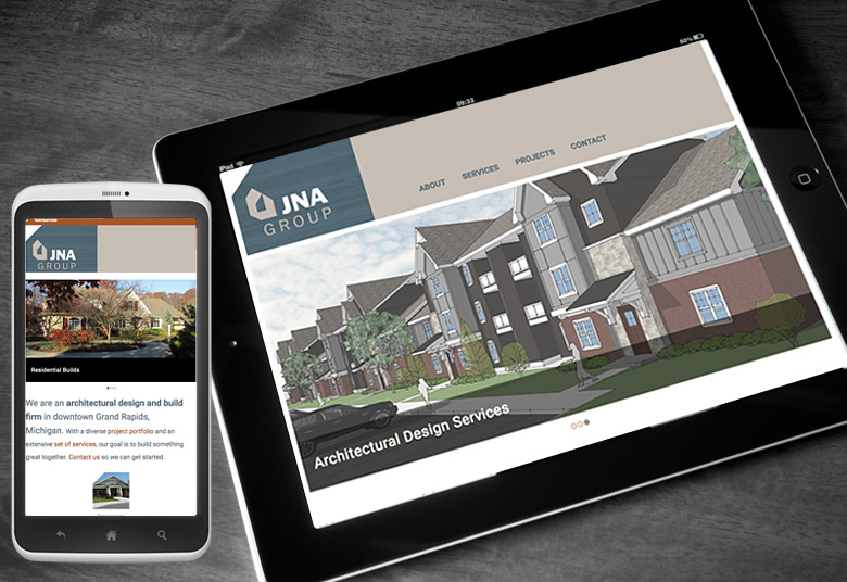 JNA Website on Tablet and Mobile